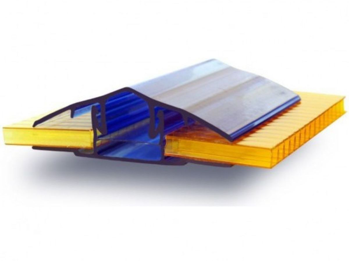 Профиль ПК соединительный разъёмный (крышка+база) (6,0 м)