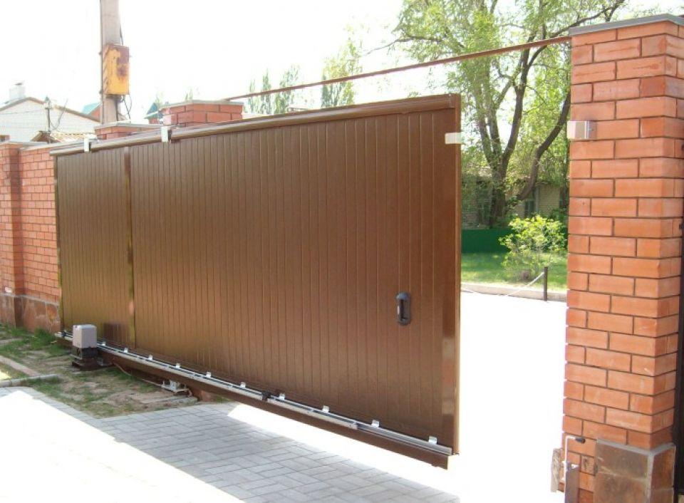 Раздвижные ворота уфа цены где разместить ворота и калитку во двор видео